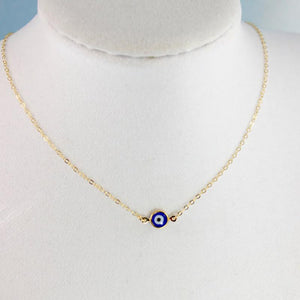 Evil Eye Necklaces Gold Blue Eyes Jewelry Simple Womens Girls XL407intothea-intothea
