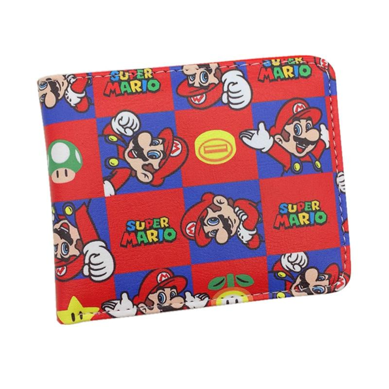 Free Shipping Super Mario World Wallet Cute Cartoon Comics Purse Student Shortintothea-intothea