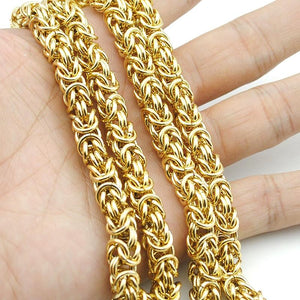 Top Quality 7mm Gold Chain Huge & Heavy Long Rope Stainlessintothea-intothea