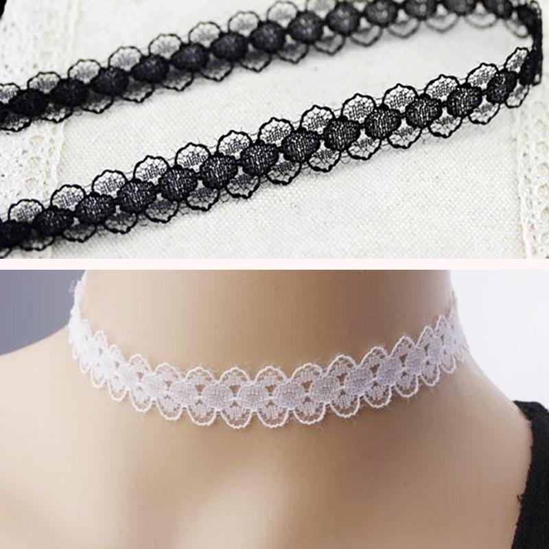 1Pc Women Girls Elegant Gothic Style Lace Choker Chain Necklace Fashion Jewelryintothea-intothea