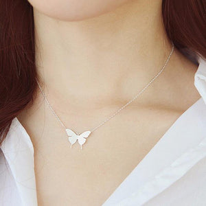 1Pc 2016 New Lovely Gold Silver Plated Butterfly Necklace for Women Simpleintothea-intothea