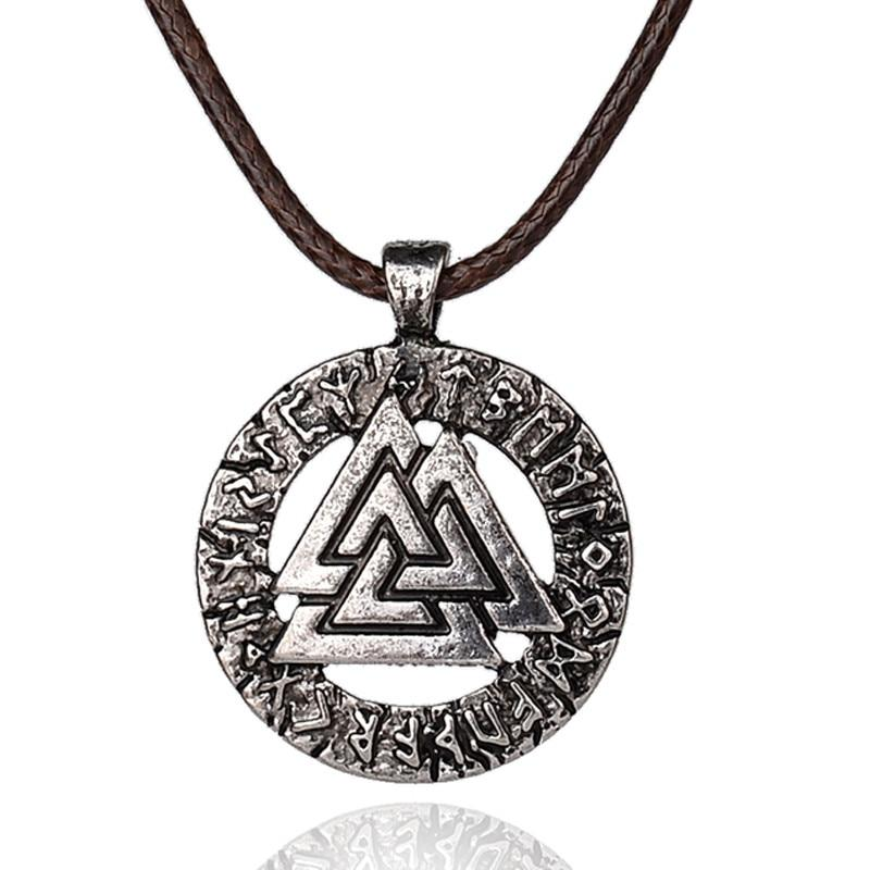 pagan amulet pendant Men necklace Scandinavian Viking jewelry Odin 's Symbol ofintothea-intothea