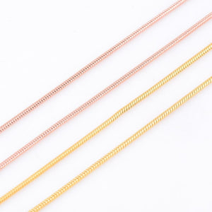 1.5mm Width Men And Women Gold/Rose Gold Round Snake Necklaces 316L Stainlessintothea-intothea