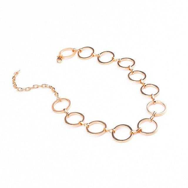 Hot Newest fashion accessories mix color metal round choker necklace forintothea-intothea