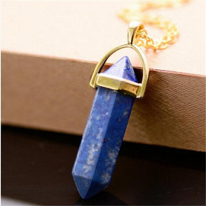 Hot selling ! Natural Stone Pendant Necklace Women Crystal Necklaces Druzy Gemintothea-intothea