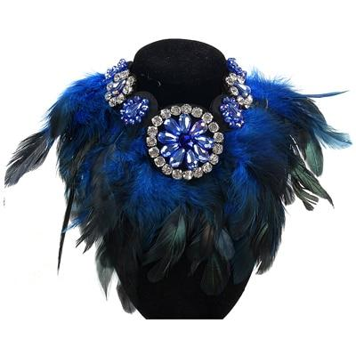 New Fashion Necklace Women Precious Crystal And Feather Necklaces & Pendant Softintothea-intothea