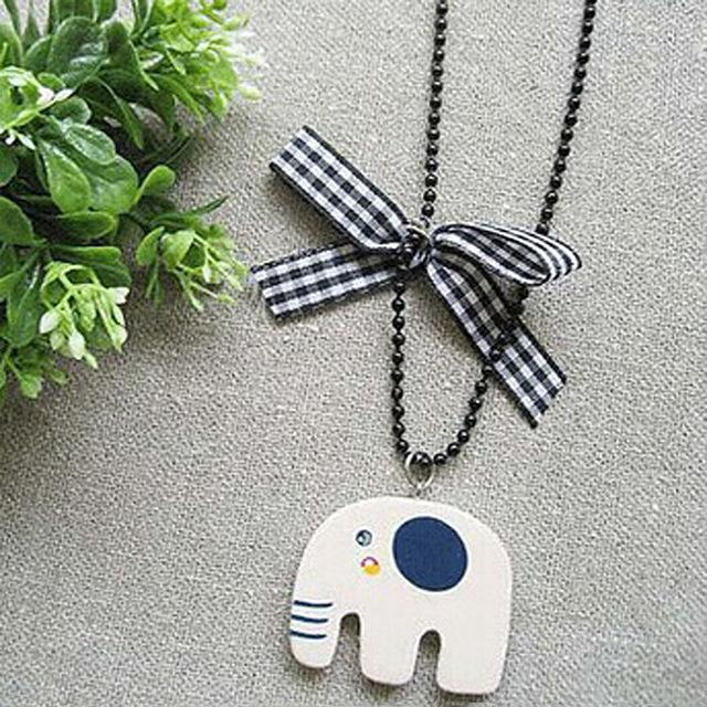 N152 Antique Pendant Necklace Long Chain Retro Elephant Owl Letters Necklaces Fashionintothea-intothea