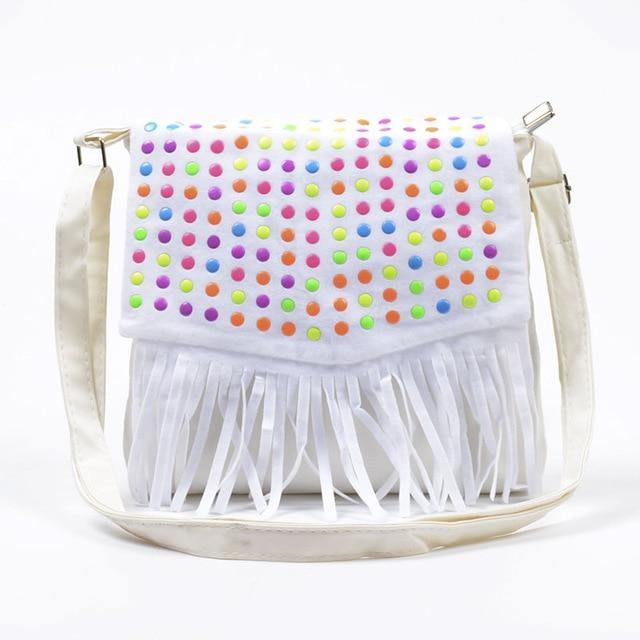 Children tassel handbags girls small shoulder bag kids messenger bags mini bagintothea-intothea