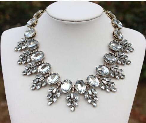 Luxury Necklaces & Pendants Big Brand Crystal Leaves Resin Vintage Choker jewelryintothea-intothea