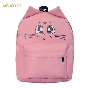 Cute Cat Ear Canvas Printing Backpacks for Teenage Girl Summer Fashion Studentintothea-intothea