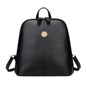 New Fashion Women PU Leather Backpack Mini Backpack Rucksack Girls School Bagintothea-intothea