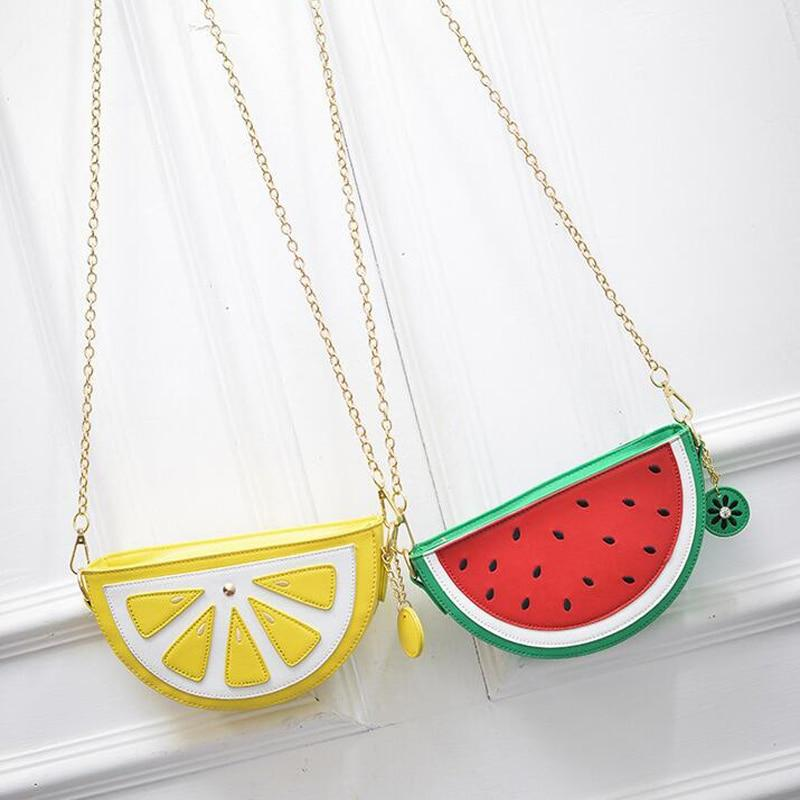 Bolsa Cupcake Women Bag Girl Messenger Bags lemon Women Leather Handbags Watermelonintothea-intothea