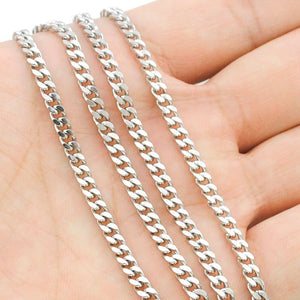 Free shipping, (40-70cm) to choose, 3mm wide,Chain Necklace, 316L Stainless Steelintothea-intothea