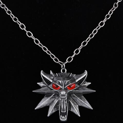 Hot Sale The Witcher 3 Wild Hunt Medallion Pendant and Chain Necklaceintothea-intothea