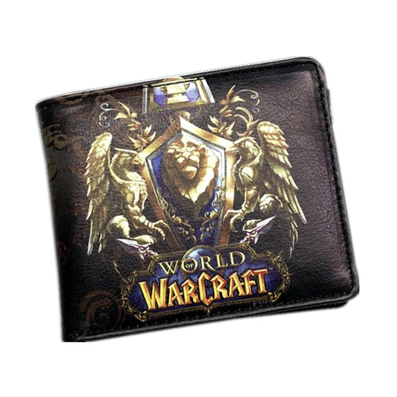 Newest The World of Warcraft Wallets Leather Slim Small Wallet WOW Allianceintothea-intothea