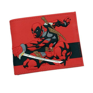 New Desigh PVC and PU Leather Anime Wallet Captain American Deadpool Spidermanintothea-intothea