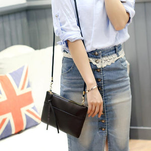 Fashion Women Clutch Bag PU Leather Purse Handbags Flap Messenger Crossbody Shoulderintothea-intothea