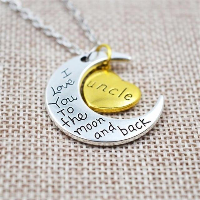 I Love You To The Moon And Back Silver Necklace Vintage Familyintothea-intothea