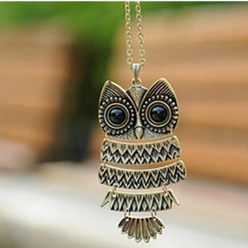 x293 Hot 1 Piece Free Shipping Fashion Jewelry Antique Bronze Owl Pendantintothea-intothea