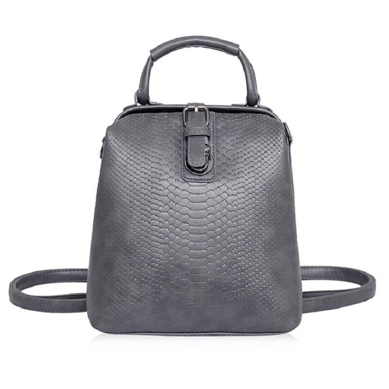 Fashion Style Women Crocodile Pattern Doctor Women Backpack Famous Bags Women's PUintothea-intothea