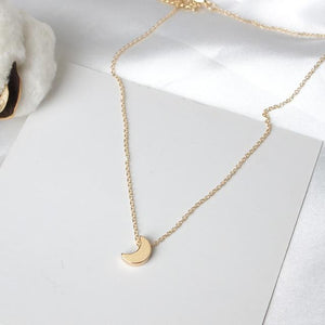 2017 new jewelry fashion simple moon pendant necklace female jewelry wholesaleintothea-intothea