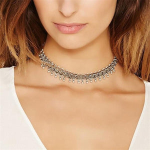 Friends Forever Necklaces Fashion Bohemia Vintage Choker Necklace For Women Link Chainintothea-intothea