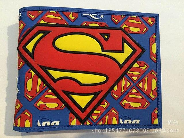 NARUTO Pokemon Silica gel Wallet Cartoon Purses 3D Pattern Printing Comics Supermanintothea-intothea