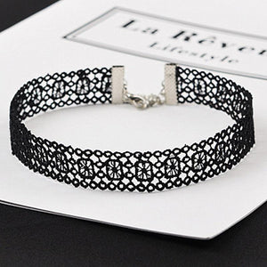 N246 Chokers Necklaces Lace Tattoo Gothic Sexy Women Crochet Necklace Collares Fashionintothea-intothea