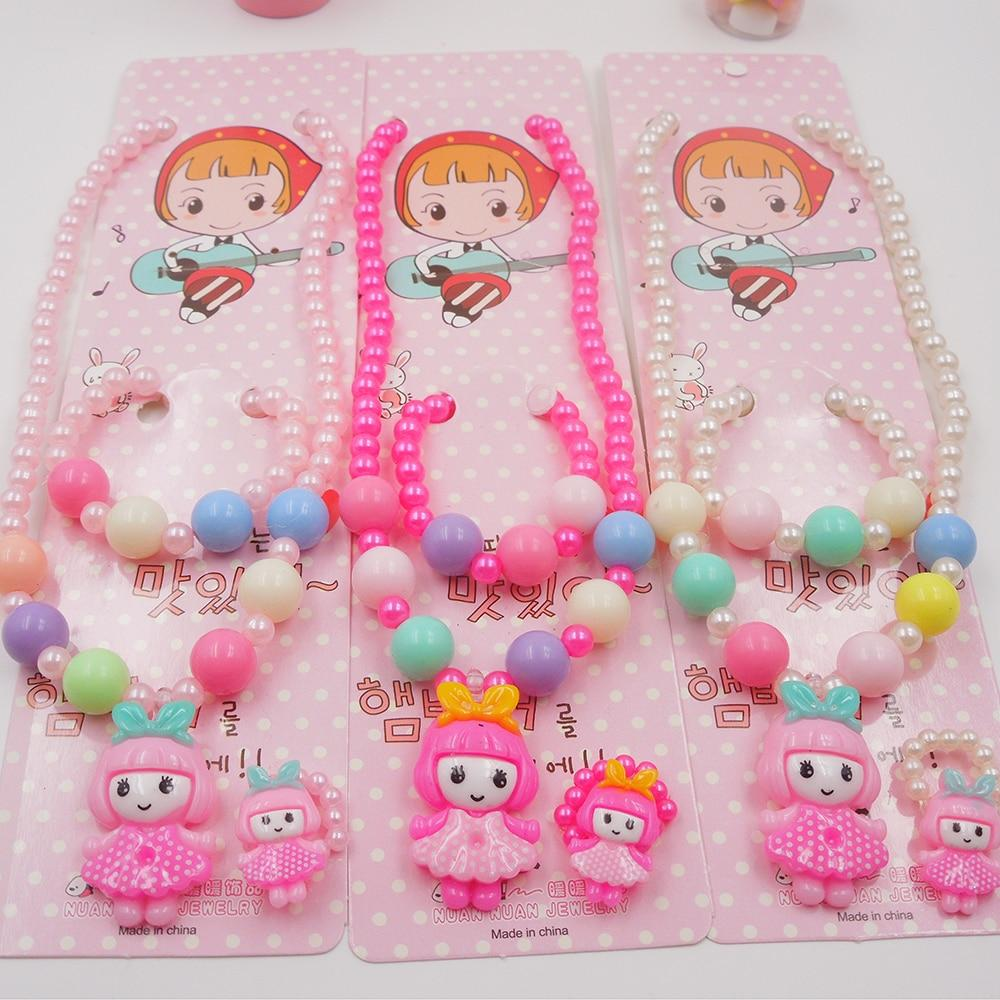 Candy Color Children Cute Girl Necklace Jewelry Simulated Pearl Girl Kids Babyintothea-intothea