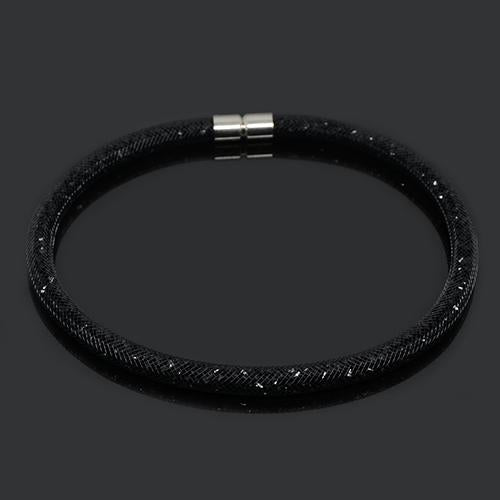 New Arrived Magnetic Clasp Multicolor Tube Crystal Mesh Necklace Wholesaleintothea-intothea