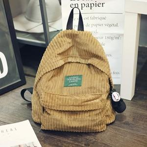 Backpack schoolbag women school backpack bags corduroy backpack teenage backpacks for girlsintothea-intothea
