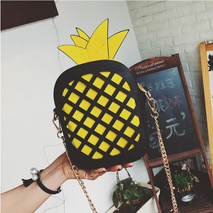 2017 New Cute Handbag For Women Lovely Pineapple Bag PU Leather Chainintothea-intothea