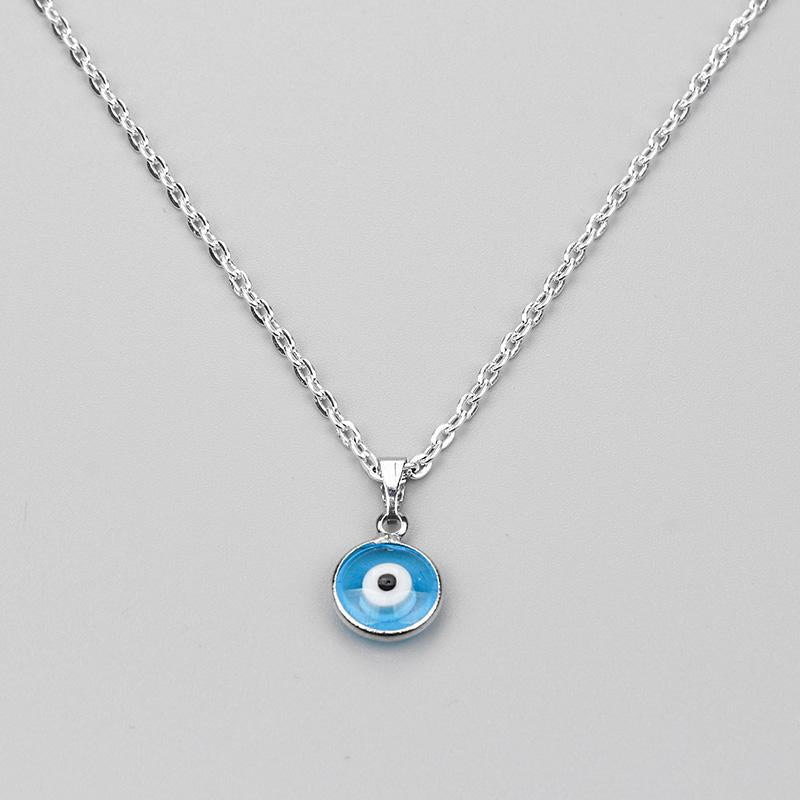 2017 new Turkish Evil Eye Necklace Glass Charm Pendent Blue Fashion Jewelryintothea-intothea