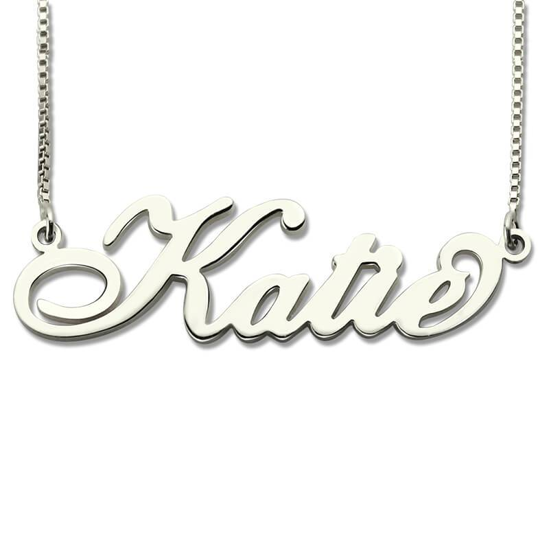 Wholesale Personalized Carrie Style Name Necklace in Silver Custom Made with Anyintothea-intothea