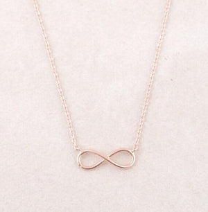 Gold Charm Infinity Pendants Choker Necklaces For Women Boho Jewelry Eternal Friendshipintothea-intothea
