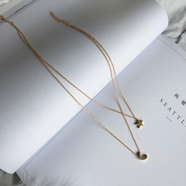 Vintage Sexy Minimalist Long Necklace Women Fashion Jewelry Metal Multilayer Layered Chainintothea-intothea