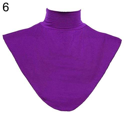 Women's Modal False Collar Hijab Moslem Islamic Pure Color Neck Cover Loopintothea-intothea
