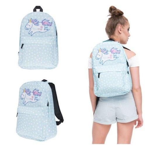 Multi Colour Unicorn Rainbow girls backpack Fantasy teenager School bag Studentintothea-intothea