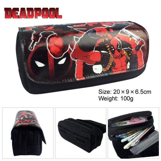 My Hero Academia Anime Boku no hero DeadPool PU Long Pencil Bagintothea-intothea