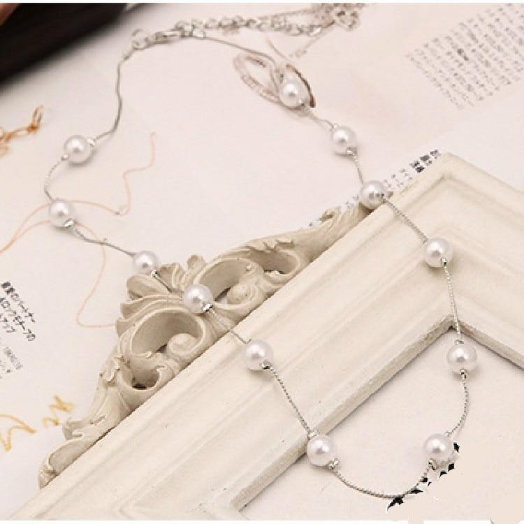 Imitation Pearl Necklaces & Pendants Wild Ladies Retro Necklace Rose Gold intothea-intothea
