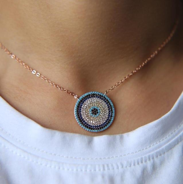NEW Authentic turquoises turkish evil eye round fashion trendy girl lady microintothea-intothea