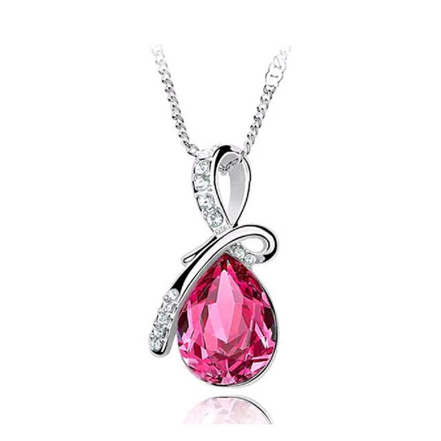 gem Crystal Necklaces Pendants And Jewerly 2016 Necklace Women Cheap Fashionintothea-intothea