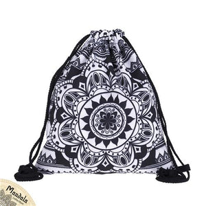 Who Cares Mandala Ombre Flower Women Drawstring Bags Brand 3d Printed Backpacksintothea-intothea