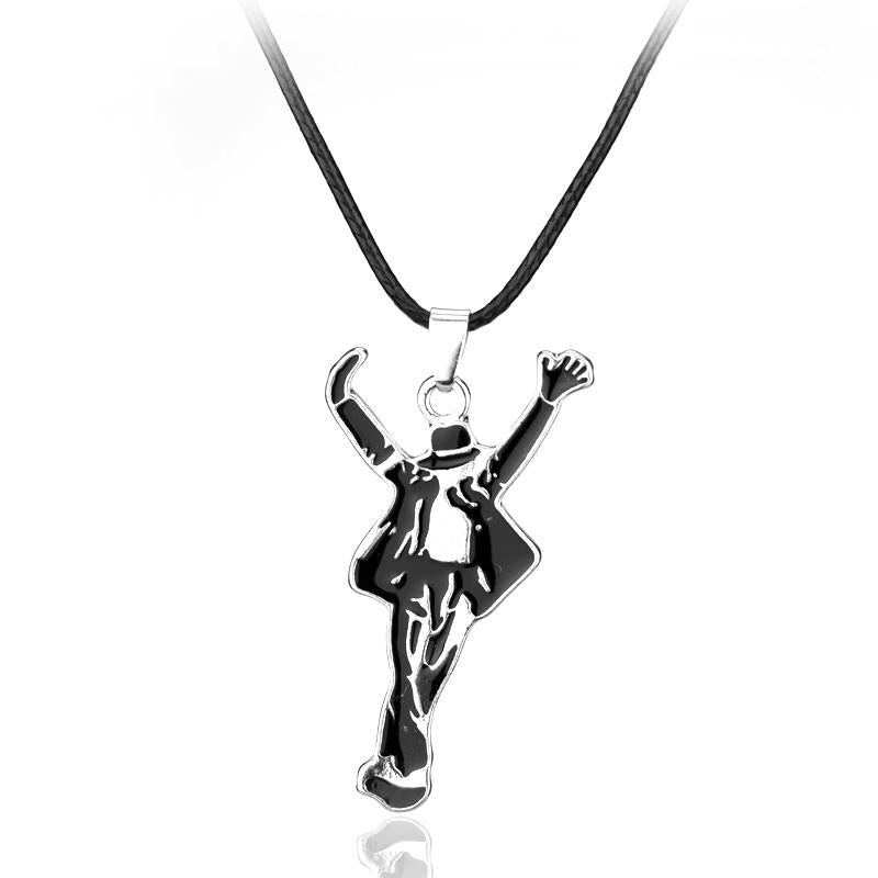 dongsheng Ornament Jewelry Necklaces Pop Star Singer Enamel Pendant Dancing Michael Jacksonintothea-intothea