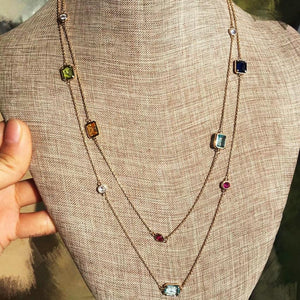 Luxury 104cm Long crystal sweater necklaces geometry shinning crystal dress costumeintothea-intothea