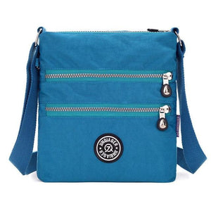 brand Small Nylon Messenger Bag Women Waterproof Crossbody Bags Double Layerintothea-intothea