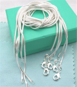 Lose Money Promotion!!!Hot Sale Silver Necklace ChainS 925 Stamped Fashion Jewelry Silverintothea-intothea