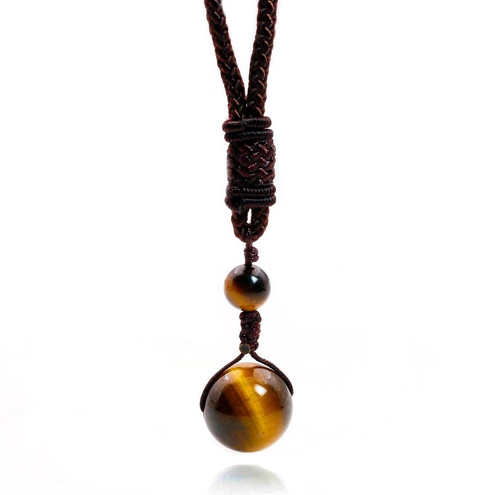 Natural Stone Obsidian, Tiger Eye, Onyx, Malachite Necklaces Pendants For Womenintothea-intothea