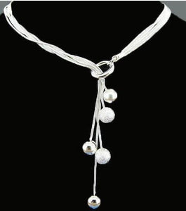 Silver Beads Necklace & Pendants Fashion Brand Design 925 Jewelry Choker Linkintothea-intothea