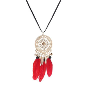 Elegant Feather Long Beaded Black Chain Tassel Necklaces For Women Officeintothea-intothea
